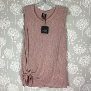 Bobeau T-Shirt Size Large Pink Sleeveless